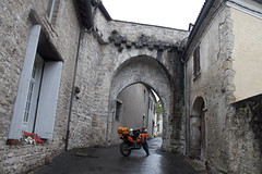 French Castle Bridge and KTM - Photo of Rioux