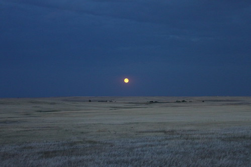 moonrise over the badlands