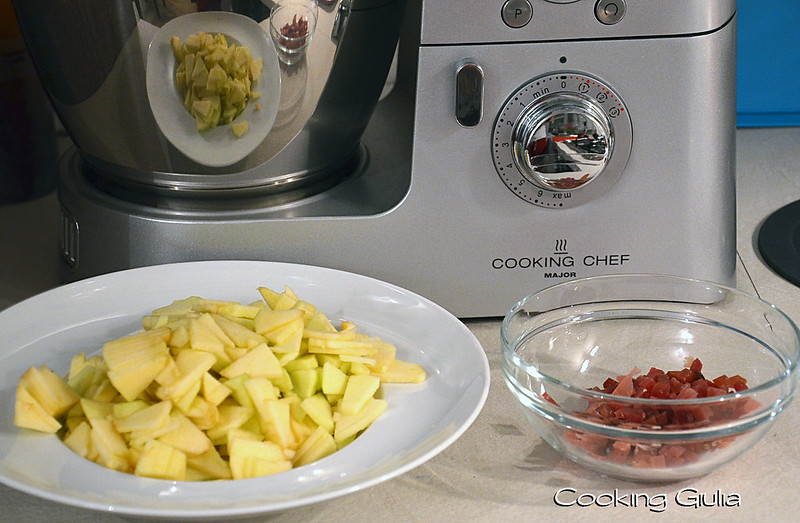 Risotto mele e speck con Kenwood Cooking Chef