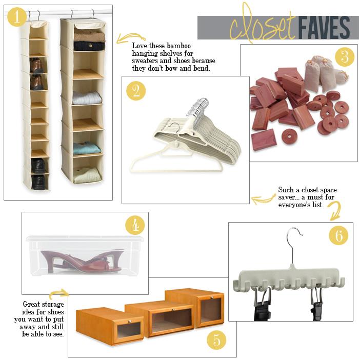 closet organization faves
