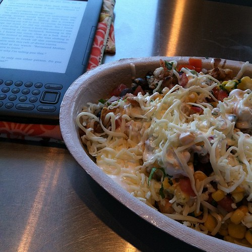 279:365 Chipotle + my Kindle = perfect lunch.
