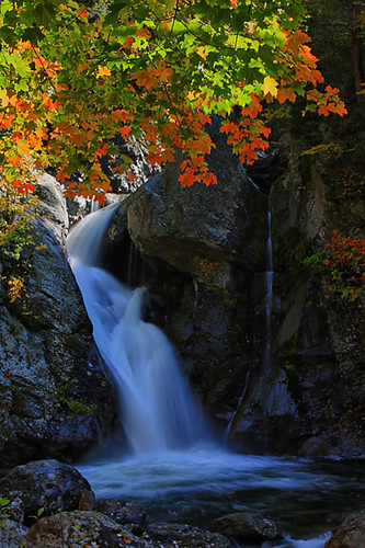 autumn waterfall long exposure massachusetts falls berkshires bashbish waterfallguy