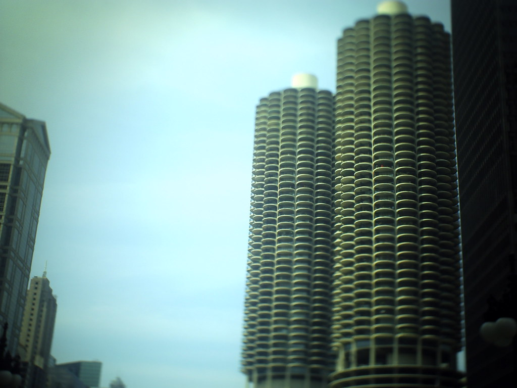 chicagl tilt-shift corn cobs