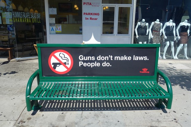 GUNS DON'T MAKE LAWS. PEOPLE DO.