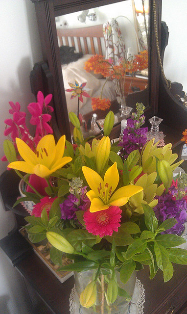 Birthday blooms from Mum