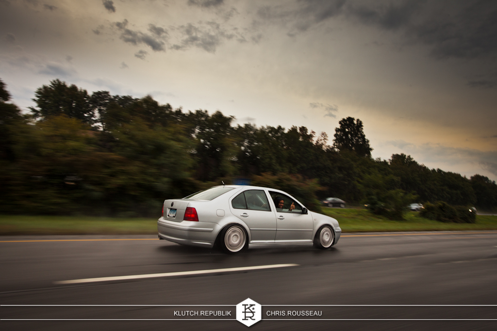 silver mk4 vw jetta gl gls gli roller rain  at h2oi 2012 3pc wheels static airride low slammed coilovers stance stanced hellaflush poke tuck negative postive camber fitment fitted tire stretch laid out hard parked seen on klutch republik