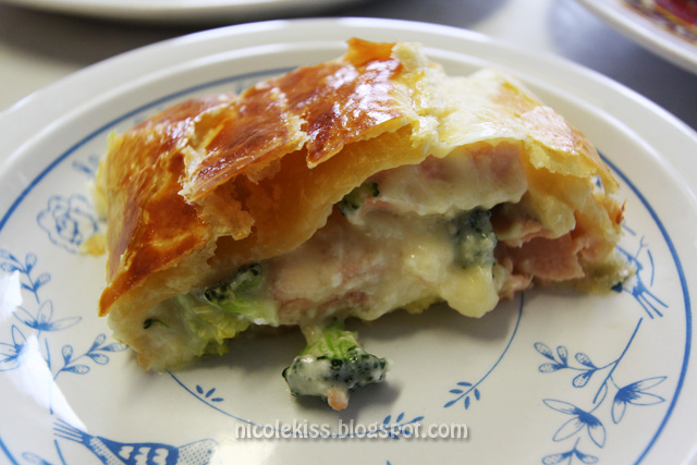 salmon broccoli pastry
