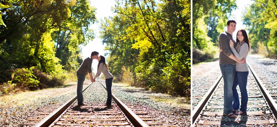 Railroad tracks Engagement Session
