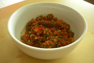 Salsa Fresca in a serving bowl