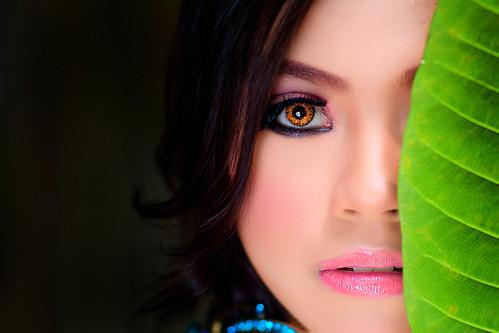 無料写真素材, 人物, 女性  アジア, ボディーパーツ  顔, 人物  花・植物, マレーシア人