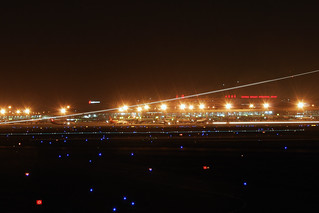 Hongqiao Airport's night