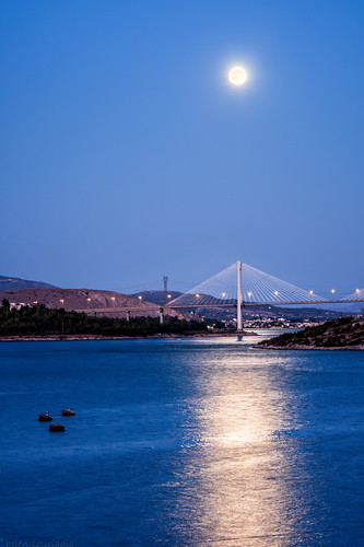 bridge blue sunset moon seascape reflection night canon landscape published suspension fullmoon greece moonrise bluehour wink bluemoon neilarmstrong chalkida halkida canon70200f28lisusm canoneos40d