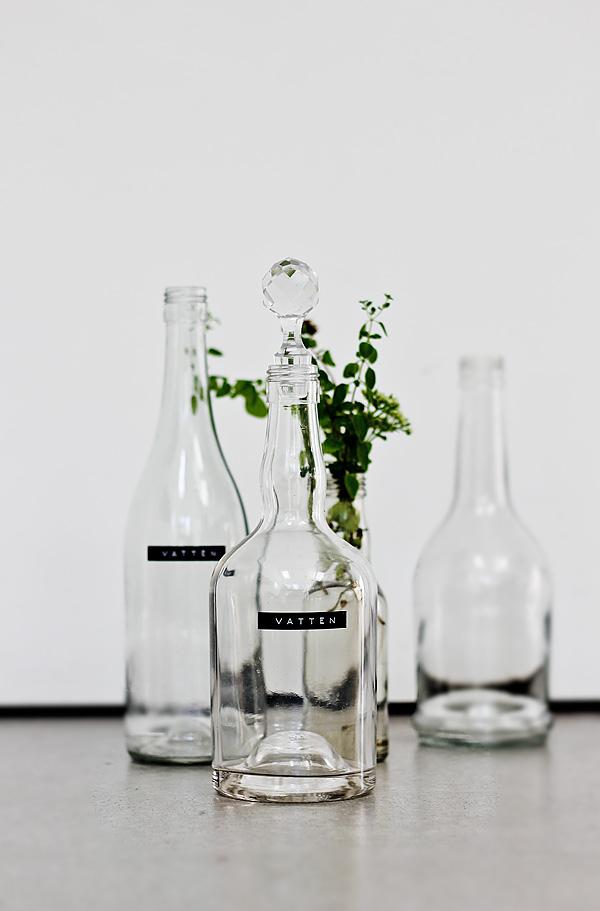 Vattenflaskor-DIY