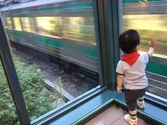 恵比寿ガーデンプレイスで電車を見る (2012/9/2)