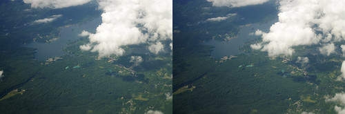 Lake Hibara and Goshiki-numa Ponds, stereo parallel view
