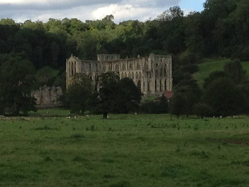Rievaulx Abbey ruins from the Cleveland Way