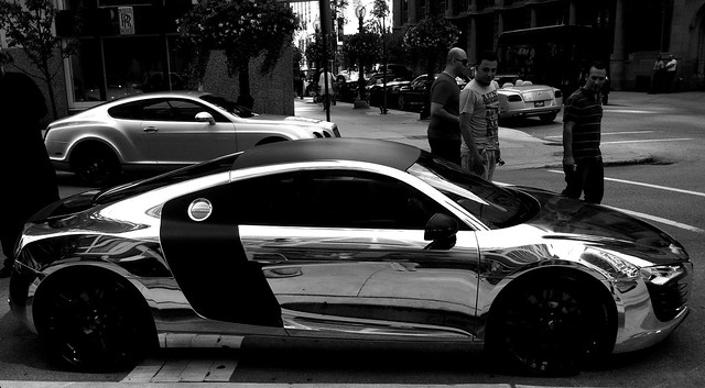 Chrome Audi R8 Black and White | Flickr - Photo Sharing!