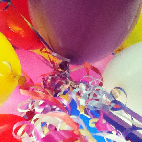 I highly under estimated the space that 25 #birthday #balloons require. #instamuse #shuttersisters