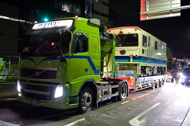 東京メトロ 軌道検測車 陸送