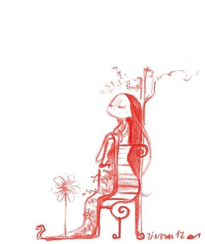 Ilustração de Zé Nova sobre o poema Ansiedade in IDADES