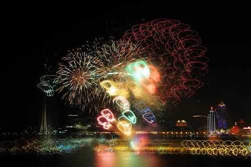 (Korea) Fireworks light painting  韓國煙花