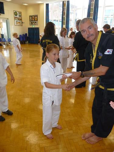 Sabumnim Evans hand predlet 1.0 her white belt senior