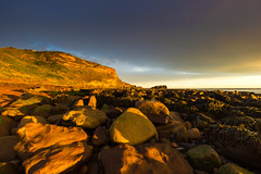 Golden Rocks at Saltwick Bay