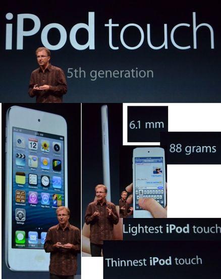 новый iPod touch и его габариты