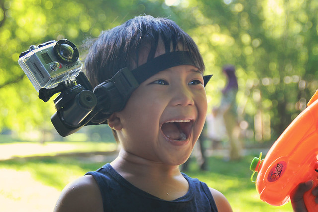 gopro camera kid  head
