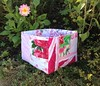 Pink Patchwork Scrap Box by Pretty Flowers in the Window