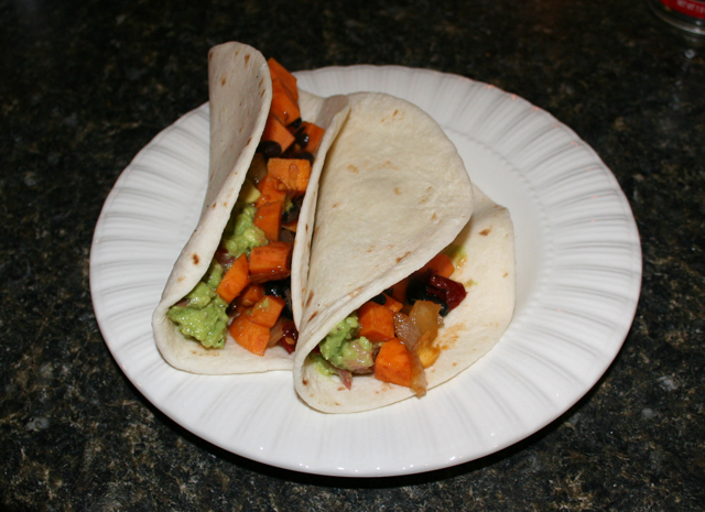 Chipotle Black Bean & Sweet Potato Tacos