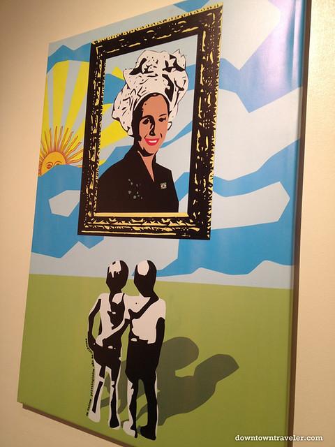 Evita Peron portrait by Juan Maresca