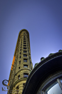 NYC Flatiron building looking up-