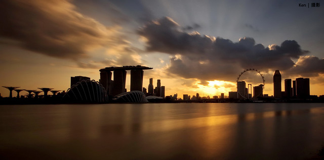 (Explored) Sunset @MBS+Singapore Flyer #2