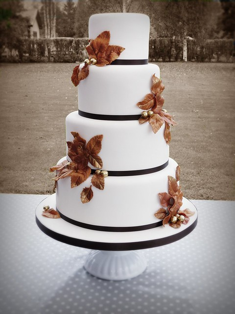 Autumn Wedding Cake Loved To Make This Cake Bride