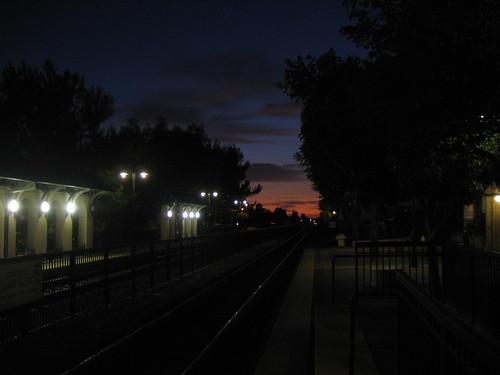 Claremont station at sunset