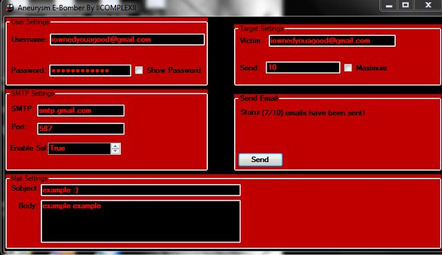 Download Aneurysm Email Bomber