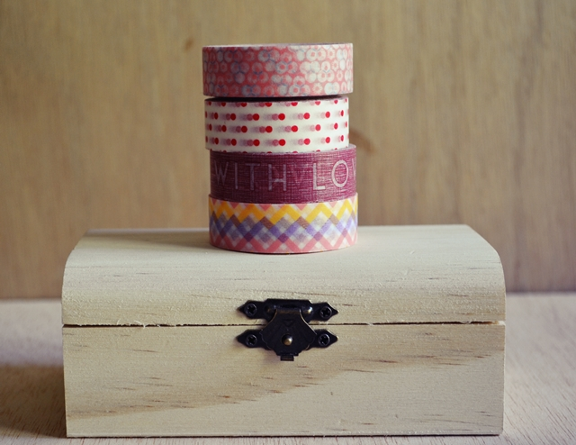 decorar caja washi tape