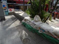 Sandbags from the floods