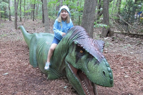 Catie and the dinosaur