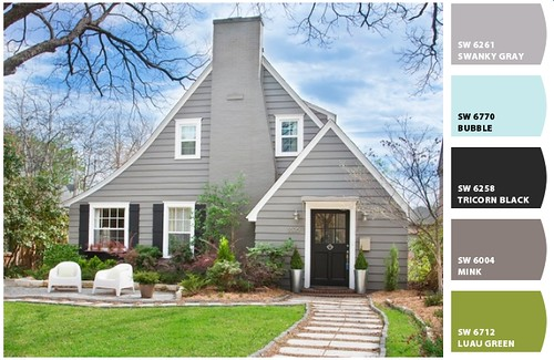 Trying to choose exterior paint colors it 39 s great to be home for Light gray exterior paint