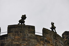 Little figures at Alnwick Castle