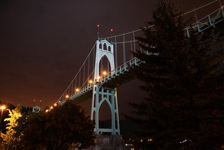 St. Johns Bridge Lit Up