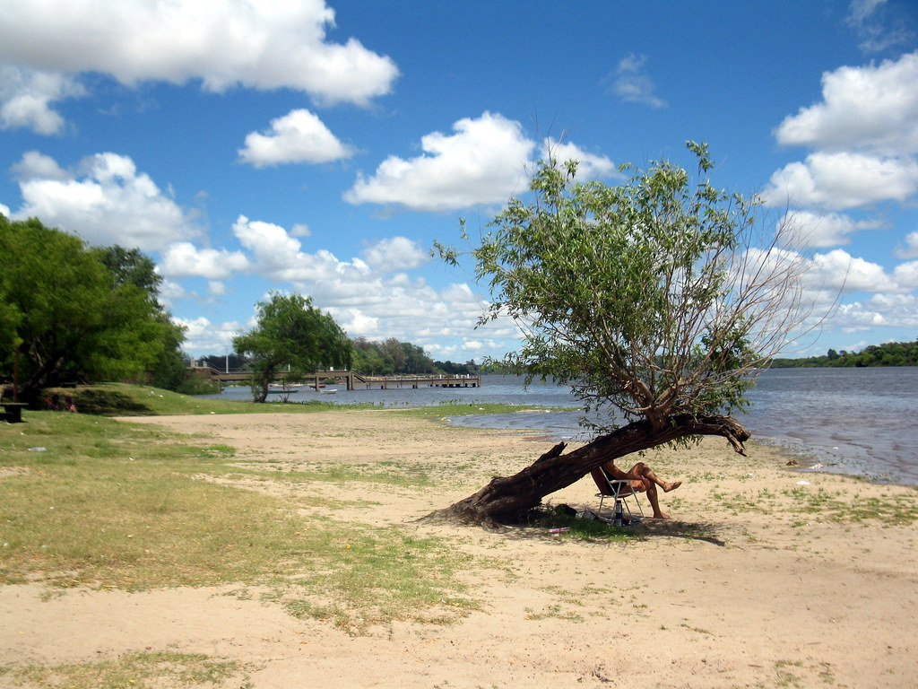 River beach. Mercedes. Uruguai