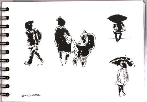 día de lluvia; Madrid