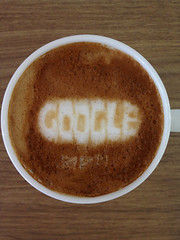 Today's latte, Google's 14th birthday doodle!