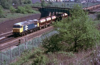 BR Class 56 56048 with down Redland Empties, Acton, 8th. May 1987.