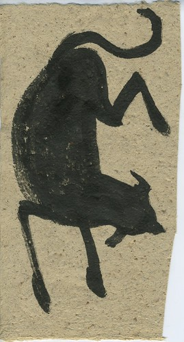 cave painting of a dog by Bricoleur's Daughter