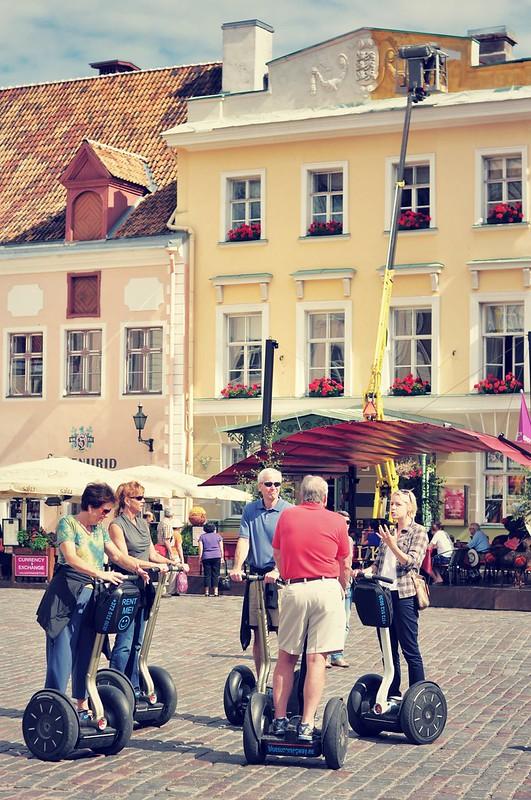 Segways in Tallinn center