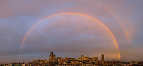 seattle rainbow doublerainbow